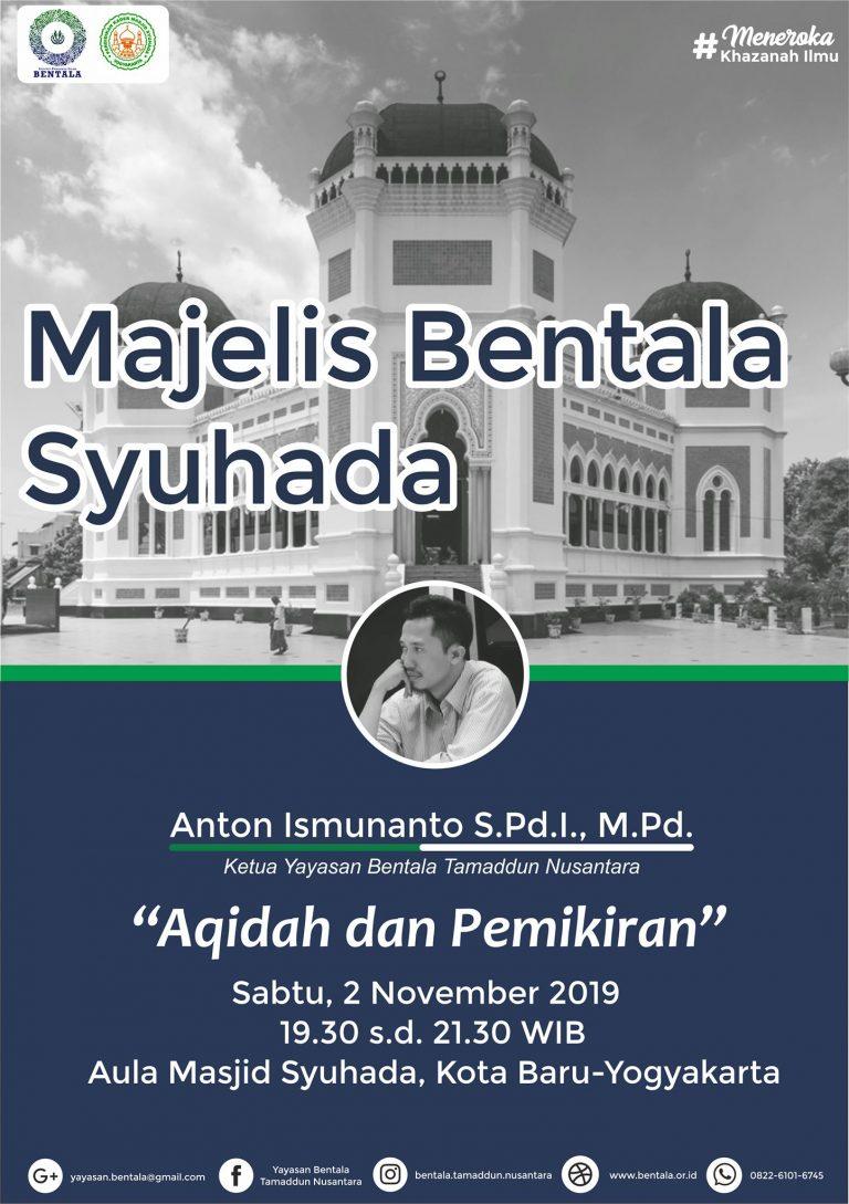 MBS 2 November 2019 –  Aqidah dan Pemikiran