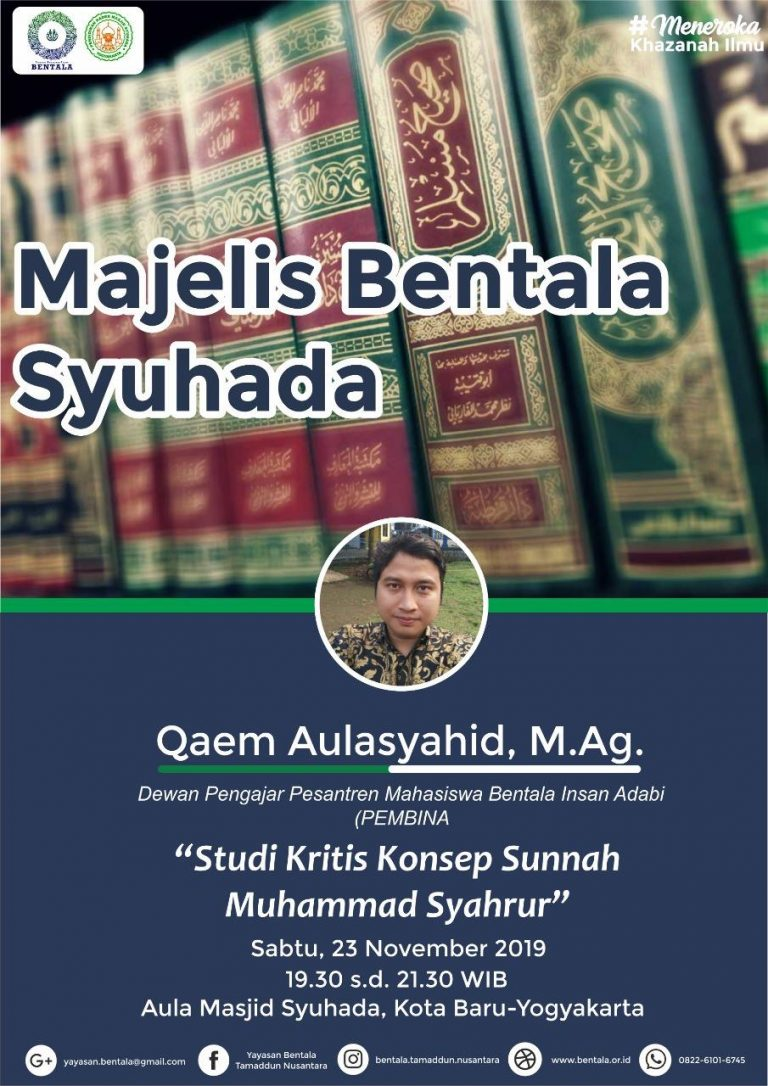 MBS 23 November 2019 – Studi Kritis Konsep Sunnah Muhammad Syahrur