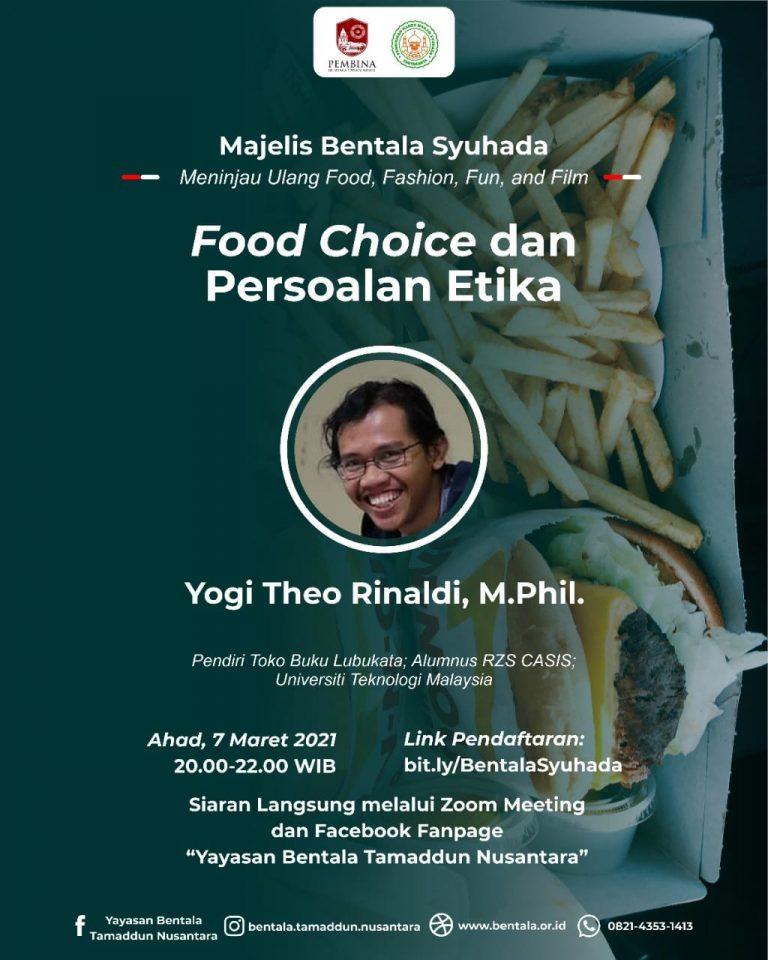 MBS 07 Maret 2021 – Food Choice dan Persoalan Etika