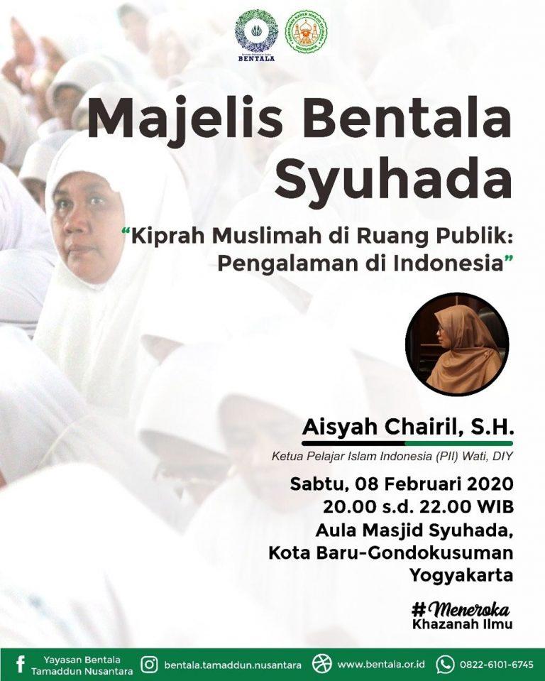 MBS 08 Februari 2020 – Kiprah Muslimah di Ruang Publik: Pengalaman di Indonesia