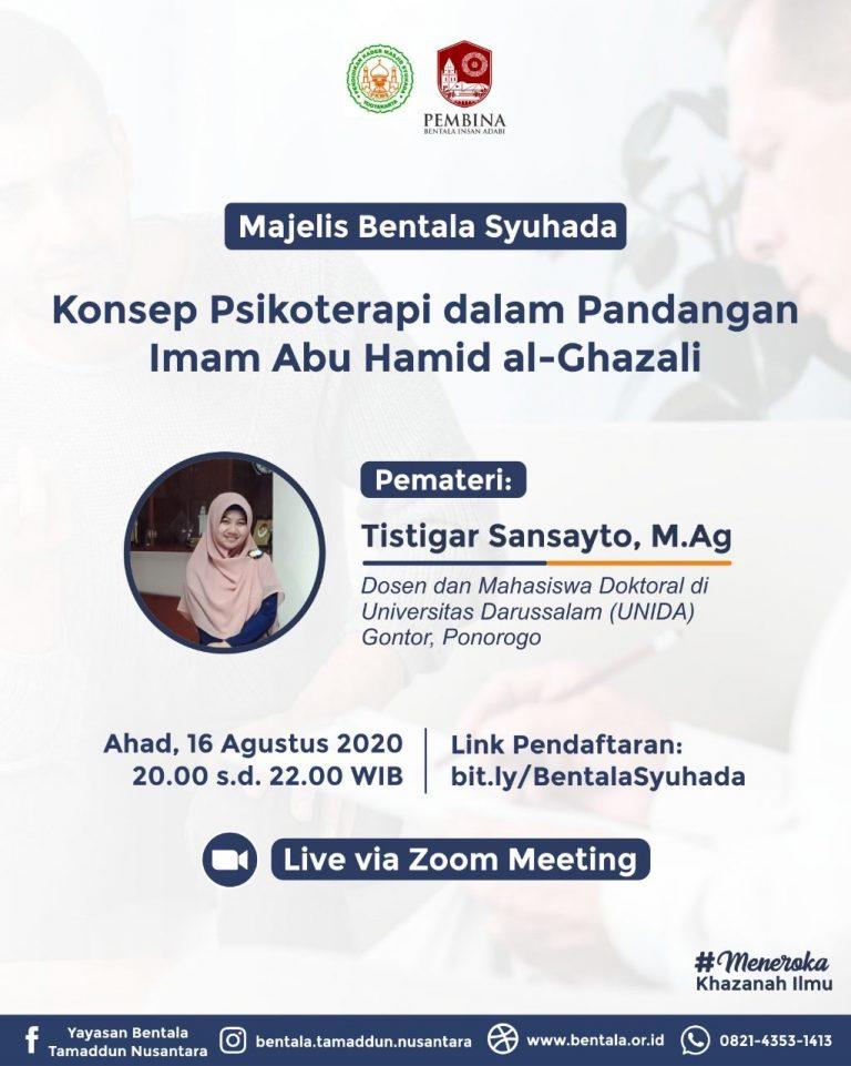 MBS 16 Agustus 2020 – Konsep Psikoterapi dalam Pandangan Imam Abu Hamid Al-Ghazali