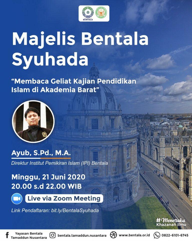 MBS 21 Juni 2020 – Membaca Geliat Kajian Pendidikan Islam di Akademia Barat