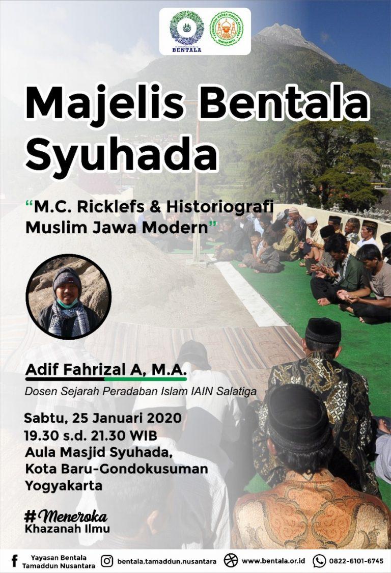 MBS 25 Januari 2020 – M.C. Ricklefs dan Historiografi Muslim Jawa Modern