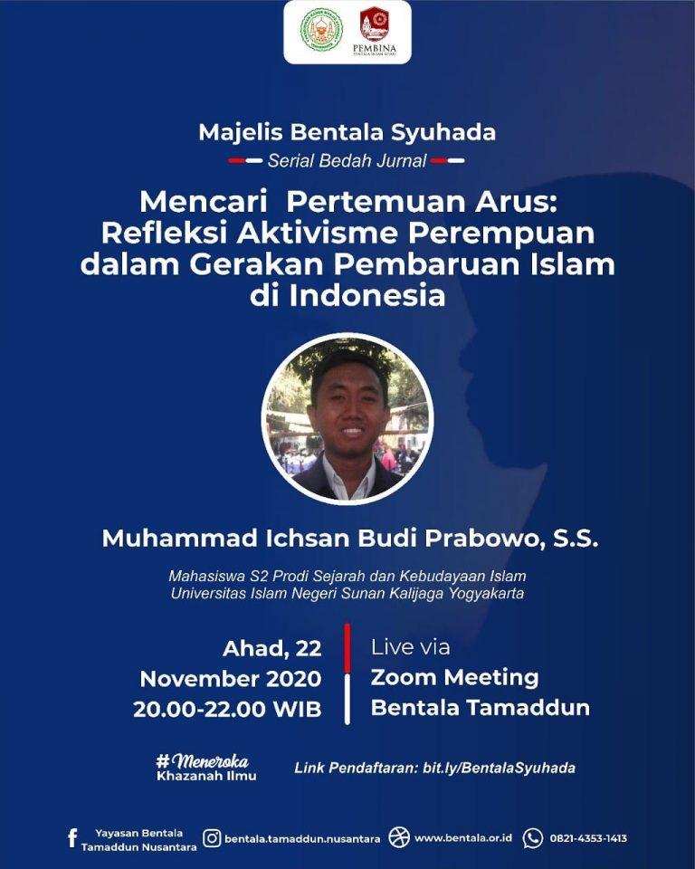 MBS 22 November 2020 – Mencari Pertemuan Arus: Refleksi Aktivisme Perempuan dalam Gerakan Pembaruan Islam di Indonesia